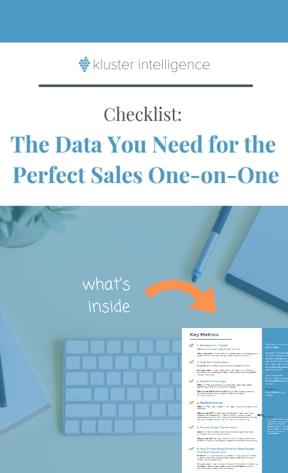 The data you need for the perfect sales one-on-one